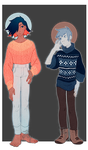 Adopts 66-67 [Auction - Closed] by sandflake-adoptables