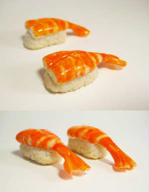 Shrimp sushi by lava-tomato
