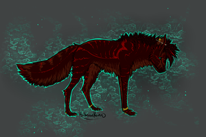 Design Commish: Wolven-Flame by MischievousRaven
