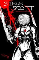 Bloodrayne Cover by stevescott
