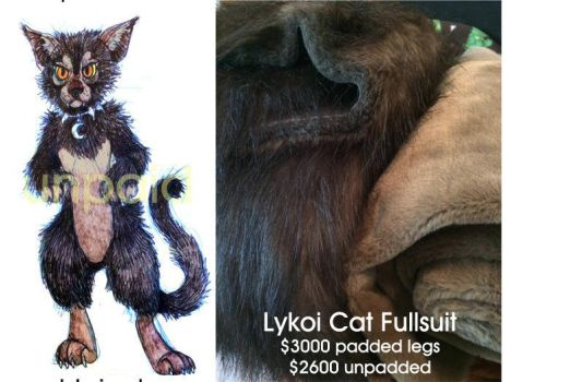 Lykoi Cat Fursuit for Adoption by LobitaWorks