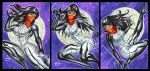 SILK PERSONAL SKETCH CARDS  MARCH 2015 by AHochrein2010