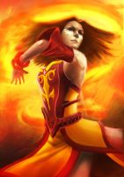 Lina Inverse DOTA 2 by DigitalSashimi