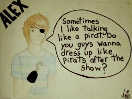 Alex Gaskarth - The Pirate by CupCakeOwO