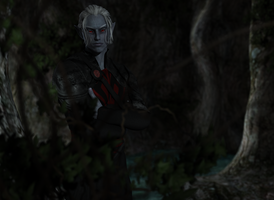 Young Drow Warrior  by EJDM