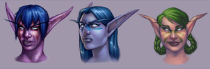 Night Elves by Dogslug
