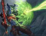 WoW TCG Draenei Warrior by namesjames
