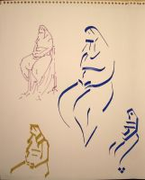 Calligraphic model drawin! 7 by Slight-Shift