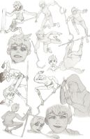 Jack Frost Sketches 3 by Mathionn