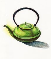 Teapot by mountainlaurelarts