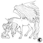 In my dreams I saw you - lineart by Namtia