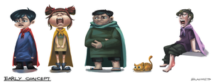 Early concept characters by Blackhole994