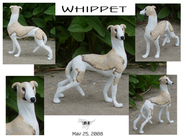 Whippet Sculpture new by KeechakVarg