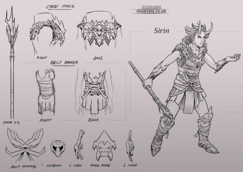 Demon Warrior (Character Design + Callouts) by Chey-the-Illustrata