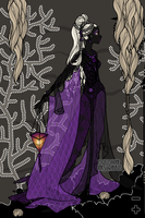 Drow Woman in a Cave by OperaticAnimeNimue
