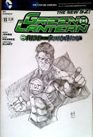 Green Lantern Sketch cover by Ace-Continuado