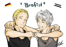 Brofist for my Brother! by Kristl-Air
