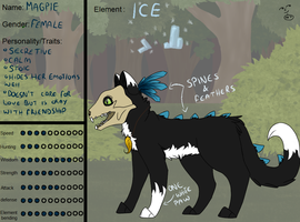 Magpie :NEW OC: by PixelPheasant