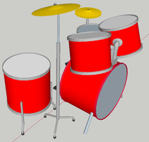 Sketchup drums 4 by turnbuckle