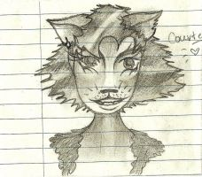 Courters as a cat by Something-Maybe