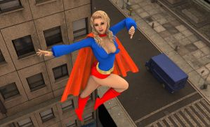 Supergirl in the City by MickLee99