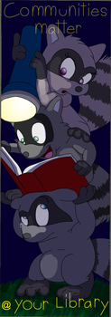 Raccoon Readers by chameleonice