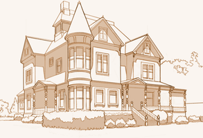 Victorian House - Architecture Study by Aliciane