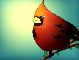 Red bird by firmacomdesign