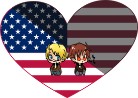 Light and Darkness (America) Shimeji Heart by LadyAxis