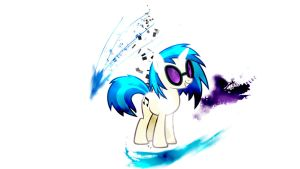 Vinyl Scratch abstract wallpaper by transient-light
