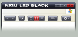 Niqu LE5 black styler toolbar by iroyuki