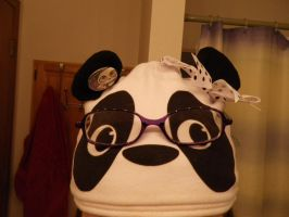 Panda nerd hat with glasses by kayebear