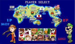 Street Fighter Mario Player Select by MightyMusc