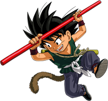 Dragon Ball - kid Goku 25 by superjmanplay2