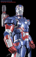 Iron Patriot w/ Speed Painting by BonnyJohn