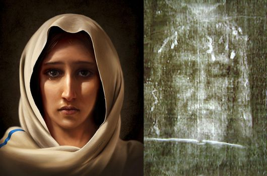 Mary, Mother of Jesus - Digital Painting by Packwood