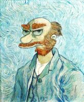 Groundskeeper Willie Van Gogh by limpfish