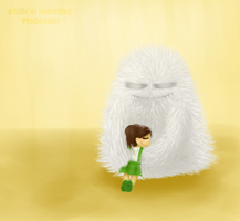 Little girl and a monster by alittleofsomething