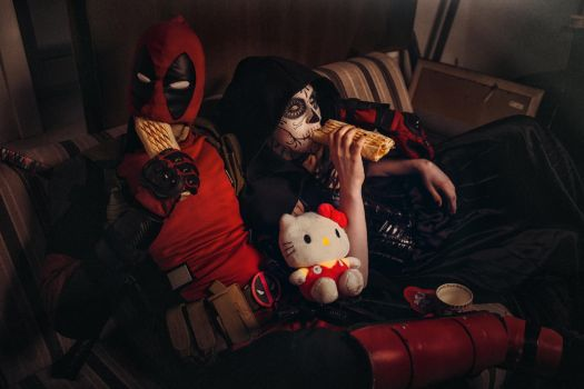 DeadPool and Mistress Death Cosplay by elenasamko