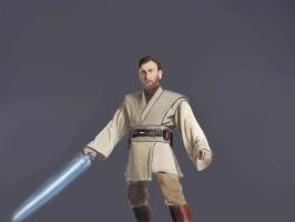 Obi Wan Kenobi (WIP)Color by GamerZzon
