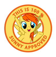 100 % Sunny Approved by haselwoelfchen