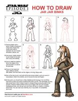 DRAW JAR JAR BINKS by grantgoboom