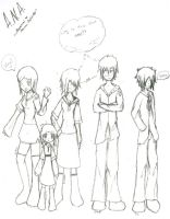 A.N.A. Story Characters sketch by SeangelSaph