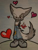 "Zack the Wolf "" love me "" by XxSweet-CoffeyxX"