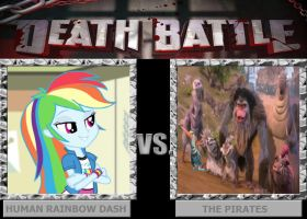 DEATH BATTLE: Human Rainbow Dash vs The Pirates by HunterxColleen