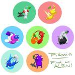 Pikmin Buttons! by Simatra