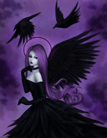 Fae and crows by Enamorte