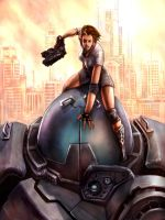 A Girl and her Robot by Billybones