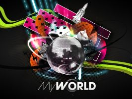my world by davidzamoradesign