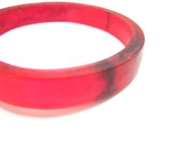 Resin bangle in cherry red by TopazTurtle